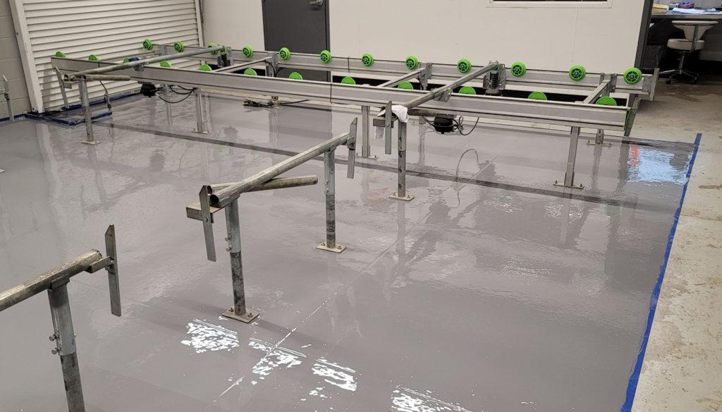 Grow Facility Epoxy floor Replacement